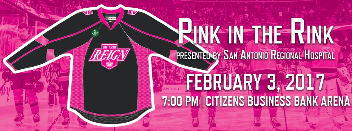 Reign Unveil Pink in the Rink Jersey for Friday!