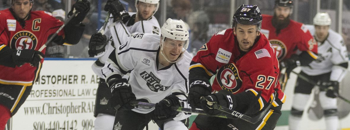 Reign Open Home & Home Series at Stockton Tonight
