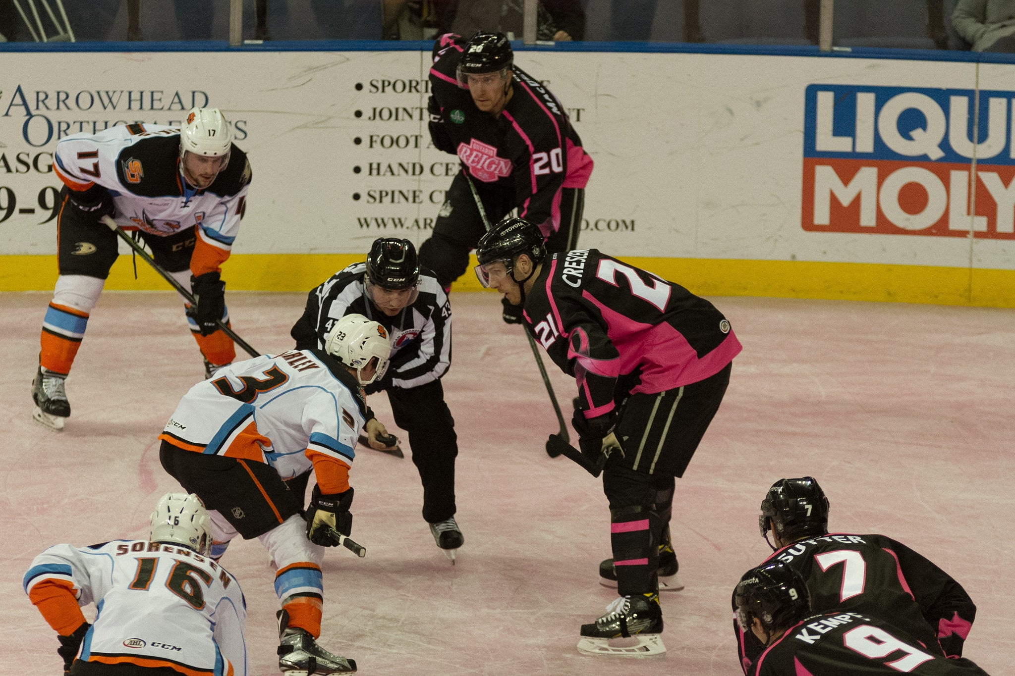 Reign Visit Gulls Tonight on Pink in the Rink Pt. 2