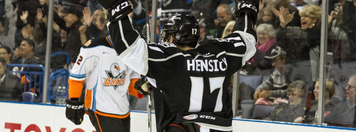 Hensick, Auger Help Reign Force Game 5 Behind 4-1 Victory