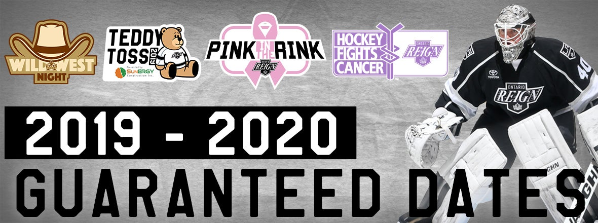 REIGN ANNOUNCE SIX 2019-20 GUARANTEED DATES