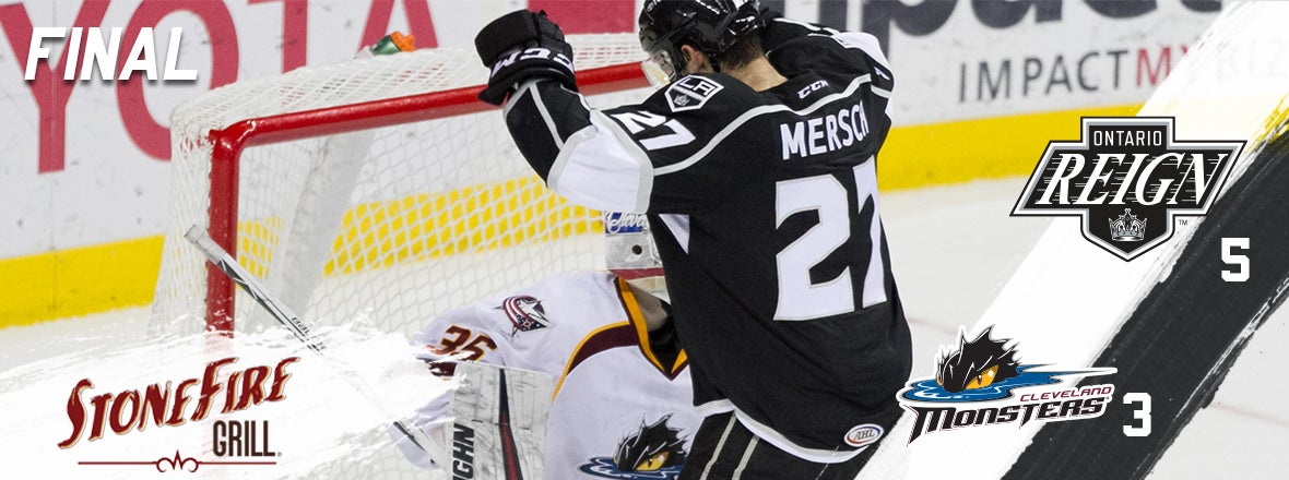Reign score five in victory over Monsters