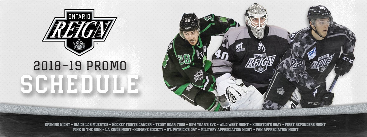 REIGN ANNOUNCE 2018-19 PROMOTIONAL SCHEDULE