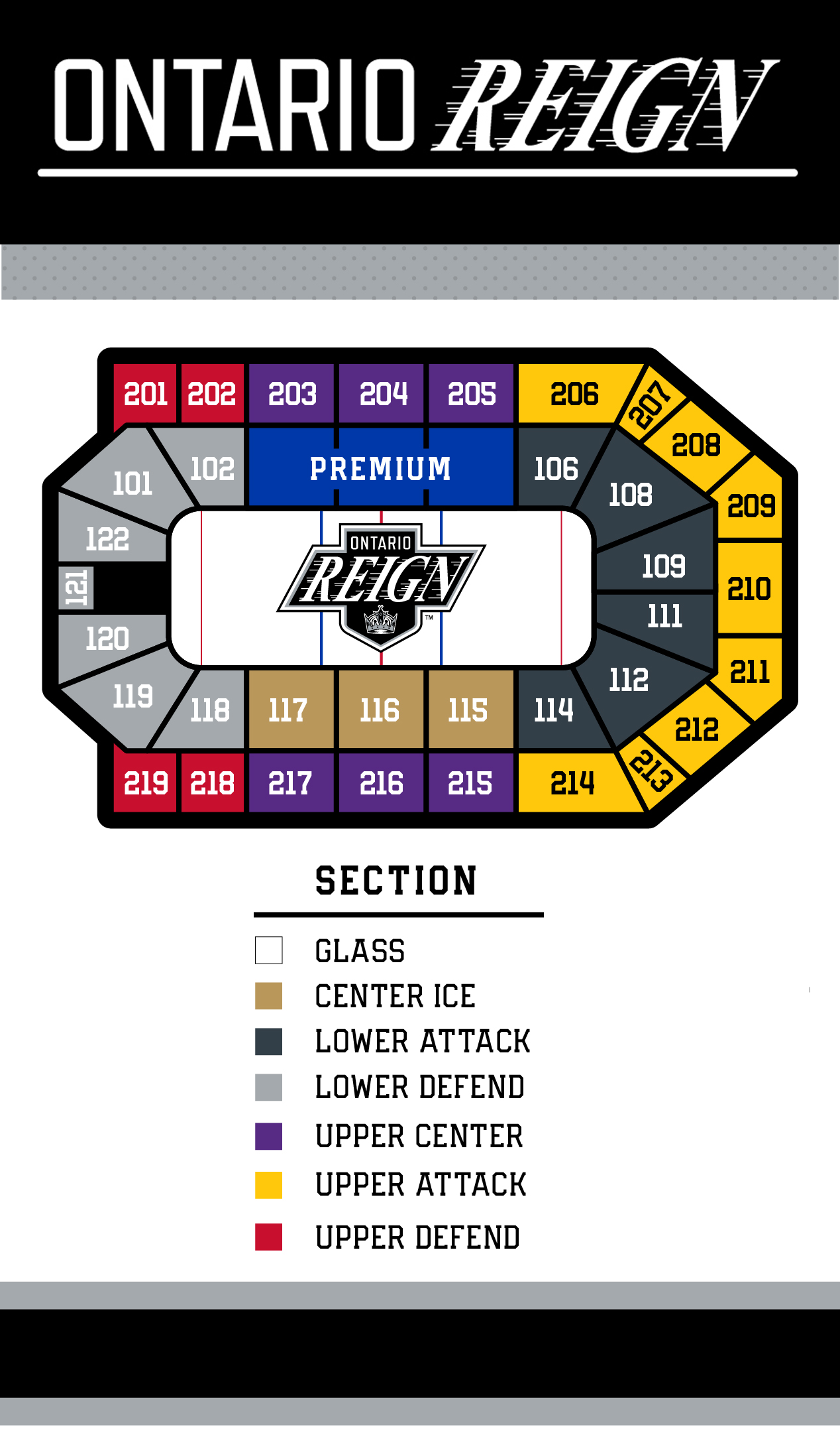 Seating Chart Ontario Reign