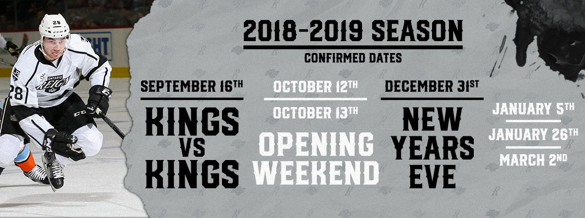 Guaranteed Dates for the 2018-19 Season!