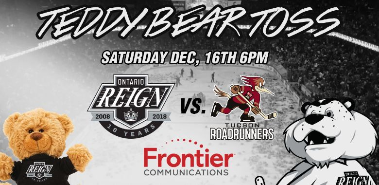 Reign Host Teddy Bear Toss on Dec. 16!